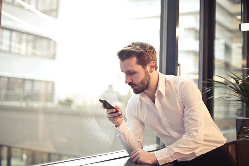 Mobiele internetgebruiker zakelijk