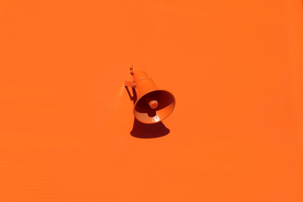Oranje megaphone